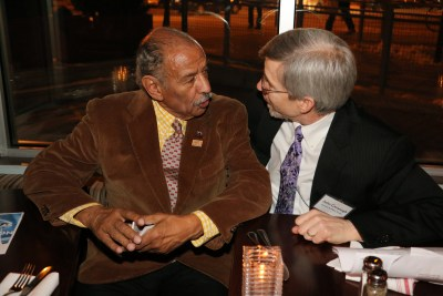 Rep. John Conyers (D-MI) with IPS Executive Director John Cavanagh