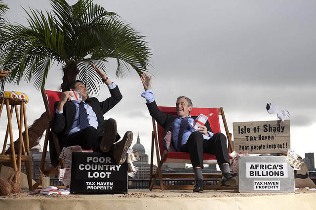 CEOs on a 'tax haven' beach.