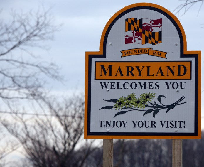 Maryland welcome sign open for big business