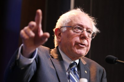 Bernie Sanders giving speech