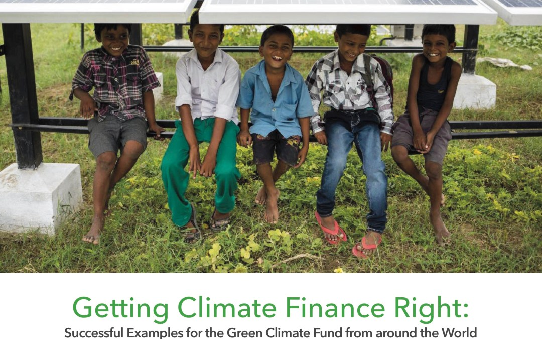 Getting Climate Finance Right