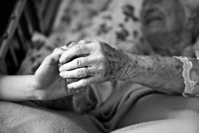 Domestic worker caring for elderly