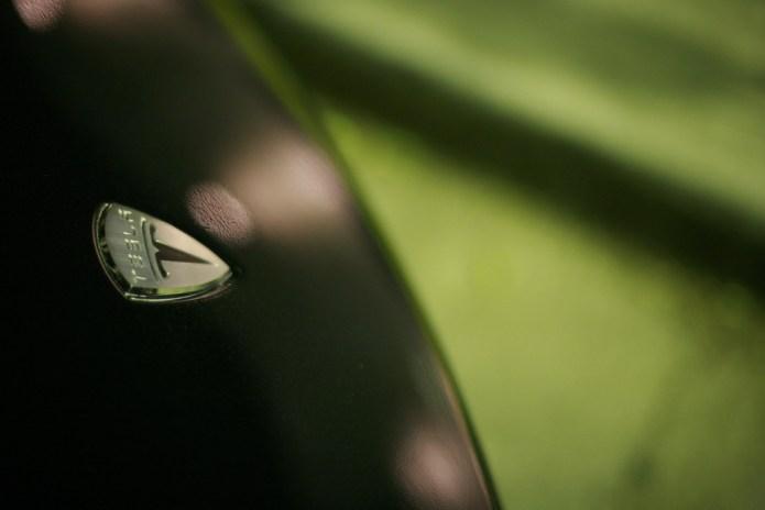 Tesla Logo, green background