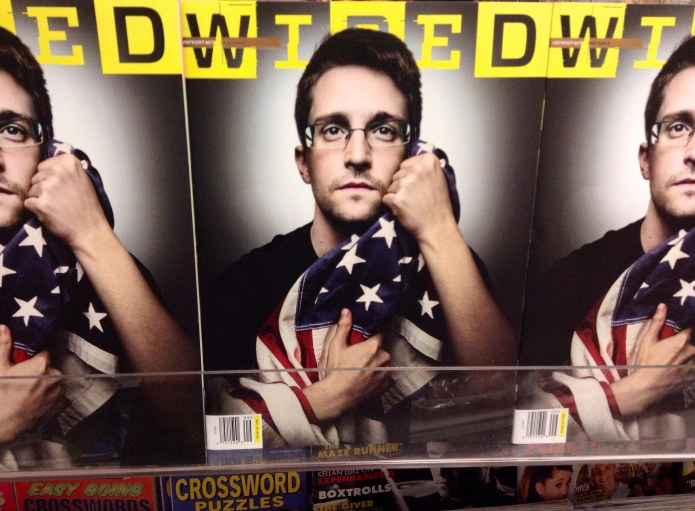 Edward Snowden Wired cover