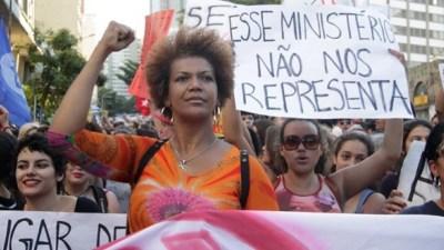 Brazil Women protest Michel Temer