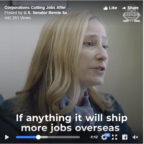 Video: Corporations Cutting Jobs After Tax Cut