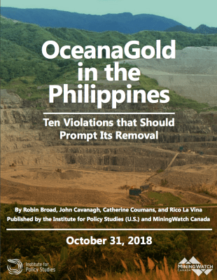 Report: OceanaGold in the Philippines - Institute for Policy