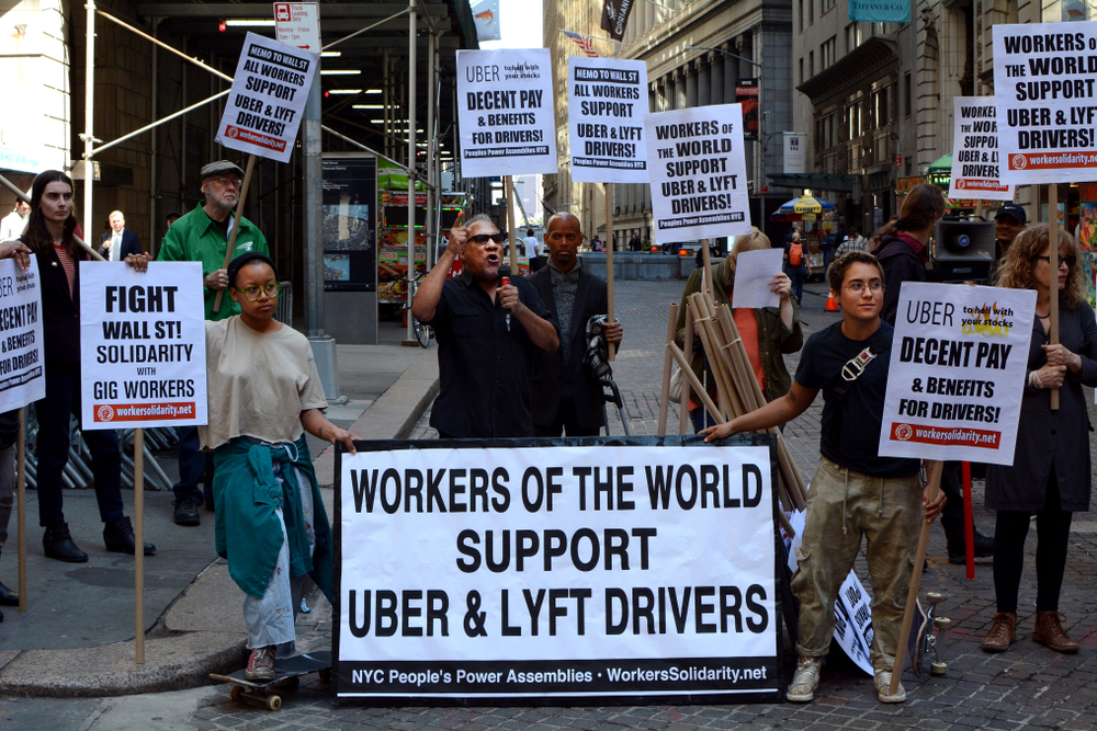 Uber Drivers Strike As Execs Make Millions Off IPO