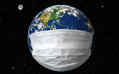 Earth with a mask