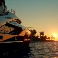 a billionaire on a yacht
