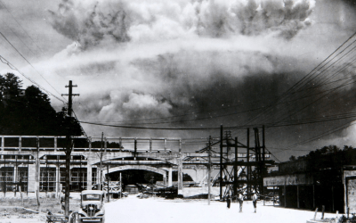 nuclear atomic bomb exploding