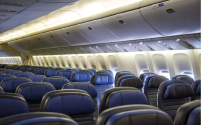 empty seats in an airplane - airline industry