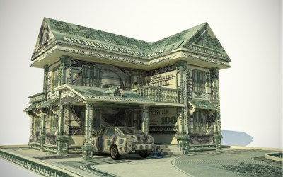 house made of money to depict wealth concentration and the role taxes and taxation plays in concentrated wealth