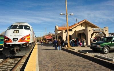 public transit rail train in santa fe new mexico