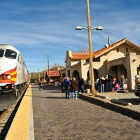 public transit rail train in santa fe new mexico