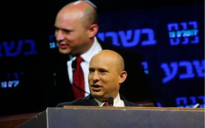 Naftali Bennet, leader of the Israeli right wing New Right party, speaks during a conference in Jerusalem, Israel on March 15, 2021