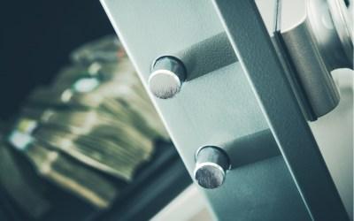 money in a safety deposit box