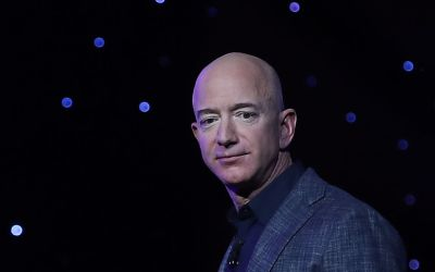 Billionaire and Blue Origin Founder Jeff Bezos Makes Announcement At Satellite 2019 Conference In DC