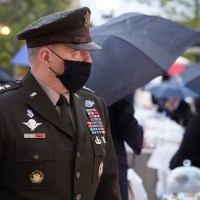 Four Star General Mark A. Milley, the 20th Chairman of the Joint Chiefs of Staff, at the Eisenhower Memorial Dedication Ceremony in Washington, DC