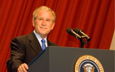 george bush at his farewell address