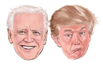 joe biden and donald trump faces