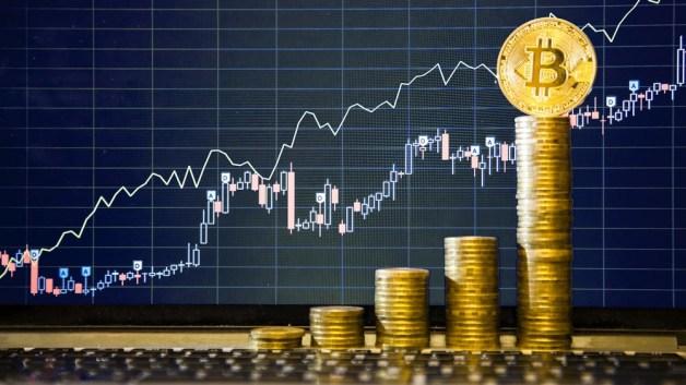 Risultati immagini per bitcoin in salita