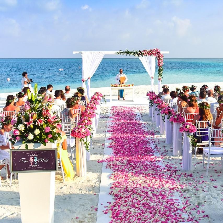 One-off, rare, beach wedding
