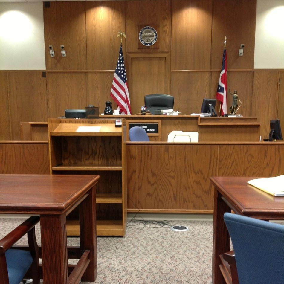 Legal right, court room