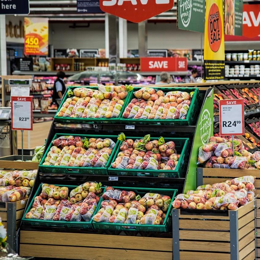 Own brand shopping, supermarket