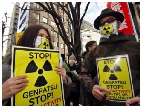 Radiation-nuclear-protestors