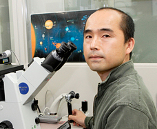 Talking with Dr.Teruhiko Wakayama on the STAP stem cell situation.