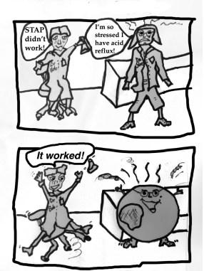 STAP cell cartoon