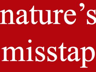 nature's misstap