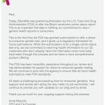 Landmark decision: FDA Approves 23andMe Genetic Test