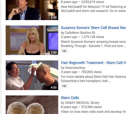 stem cell videos