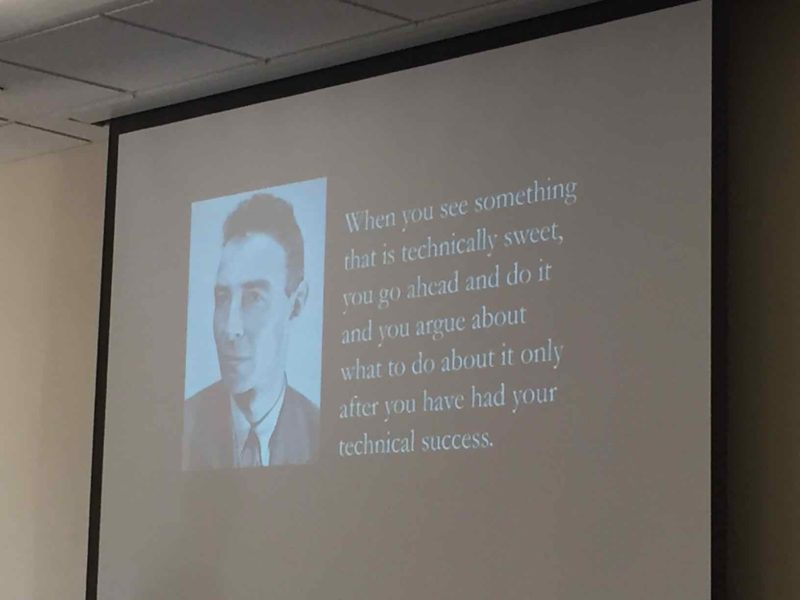 Oppenheimer Quote Fair Uc Davis Crispr Meeting Big Picture From Ben Hurlbut  The Niche