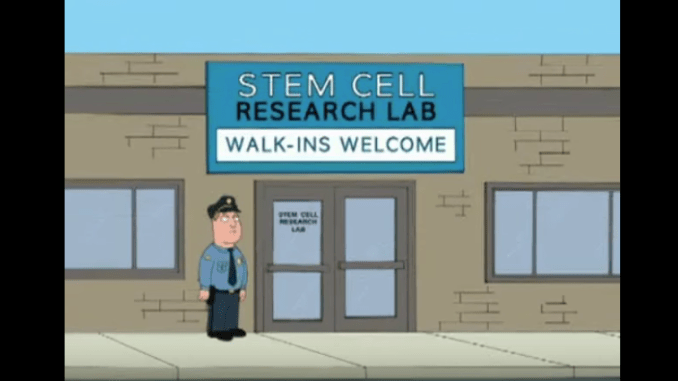 Peter Griffin Stem Cells Stroke