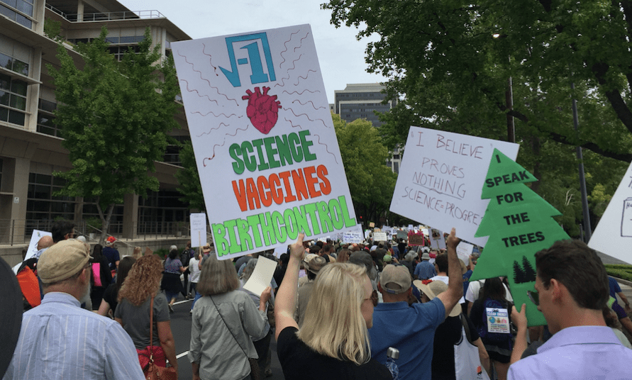 Science march poster