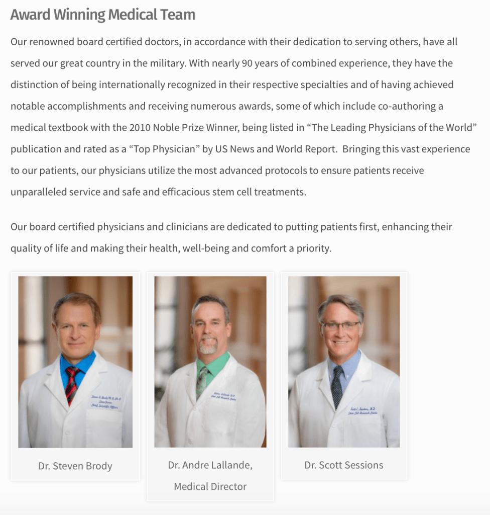 Stemgenex-Doctors