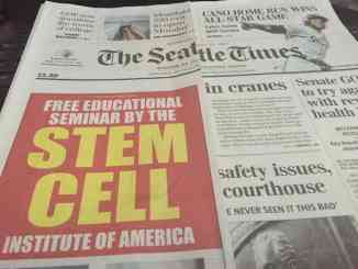Seattle times stem cell ad