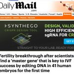 Science hype: award for worst CRISPR media headline of year