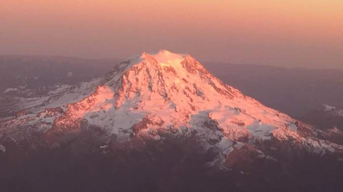 Mt. Rainier sunset