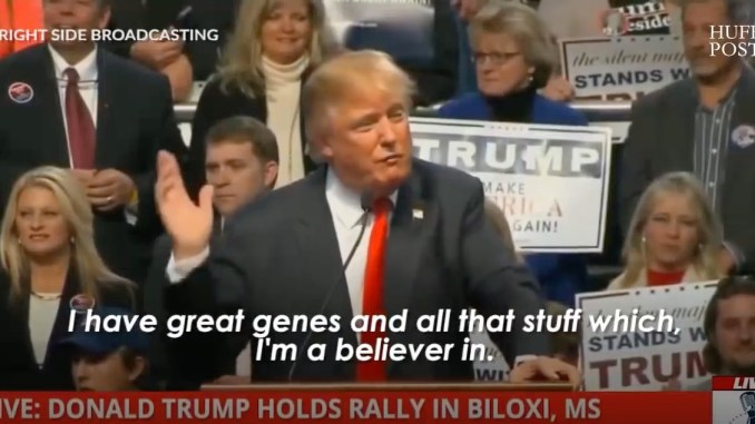 Trump good genes eugenics