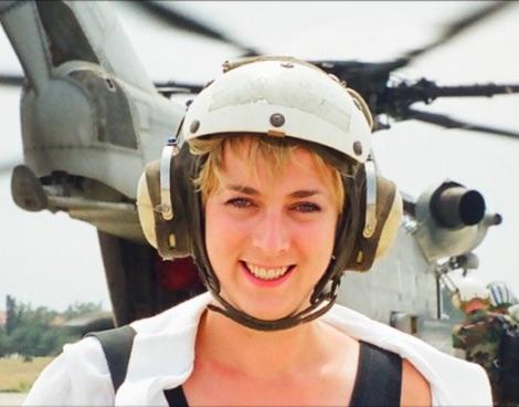 Caroline Wyatt, BBC, photo from Twitter