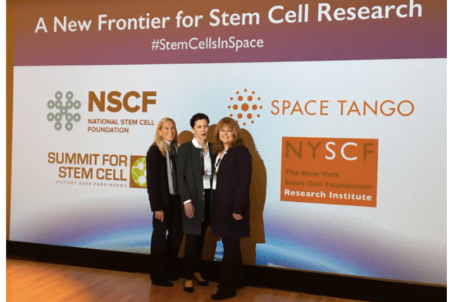 The organizational team: Jana Stoudemire (Space Tango), Paula Grisanti (National Stem Cell Foundation), Jenifer Raub (Summit for Stem Cell Foundation)