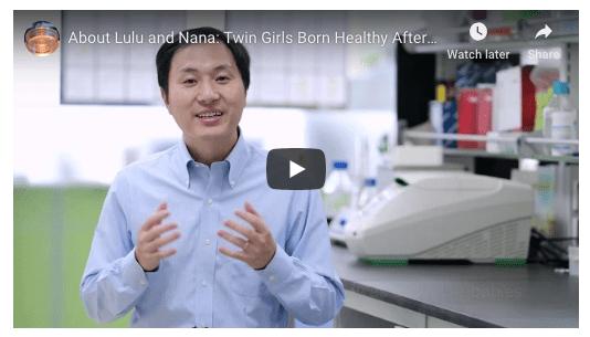 Jiankui He who claims CRISPR baby production