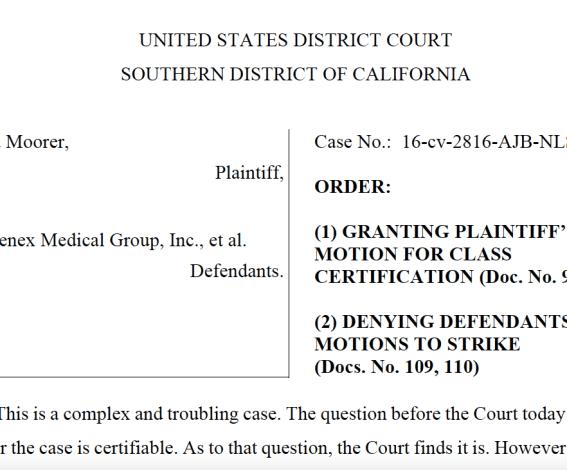 StemGenex court order class action lawsuit