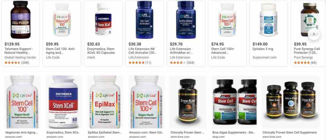 stem cell supplements
