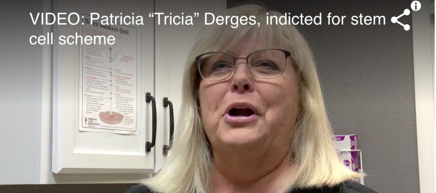 patricia derges indictment for fake stem cells