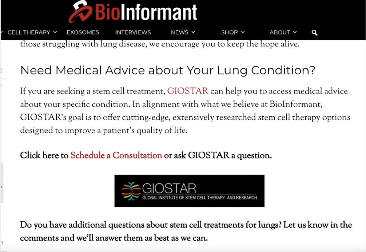 Bioinformant GIOSTAR